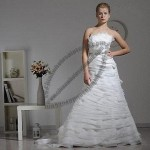 2013 Fashion Bridal Gown, Organza and Beading