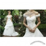 2013 Fashionable Wedding Dress with Off-shoulder Neckline