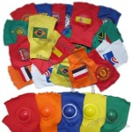 2014 Brazil World Cup Football Fans Cheering Clapping Glove