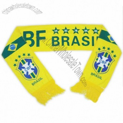 2014 FIFA World Cup Brazil Football Fans Scarf Knitting Patterns