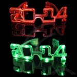 2014 LED Light Up Flashing Sunglasses for New Year, Parties, Birthdays, World Cup