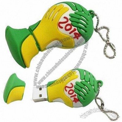 2014 World Cup-shaped Silicone USB Flash Drive