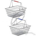 20L Wire Shopping Basket With Double Handles