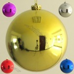 20cm Metallic Christmas Balls