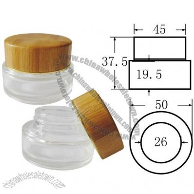20g Cosmetic Cream Jar with Bamboo Lid
