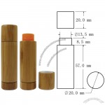 20x77mm Bamboo Lip Balm Case