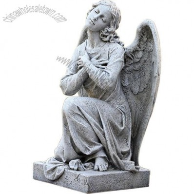 21.25-Inch Kneeling Praying Angel Garden Statue