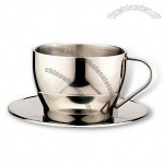 210ml Stainless Steel Coffee Cup and Saucer Set