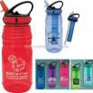 22 oz. purple water bottle with carrying handle