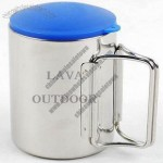 220ml Camping Stainless Steel Coffee Mug with Lid