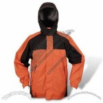 228T Taslon Breathable Outdoor Jacket with Attached Hood and Adjustable Cord Stopper