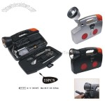 23 Pcs Emergency Car Kit with Torch
