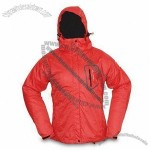 230T Ripstop Pongee/PU Outdoor Windbreaker with Detachable Hood