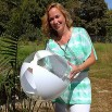 24'' Clear & White Beach Balls