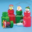 24 Holiday Character Bubble Bottles