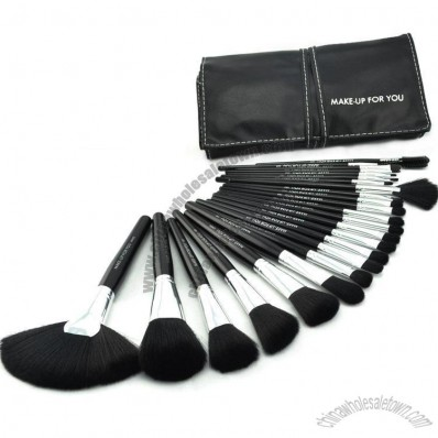 24 PCS Pro Makeup Brush Set Cosmetic Brushes Make up Tool with Black Leather Case