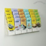 24 Pocket Clear Acrylic Wall Brochure Holder