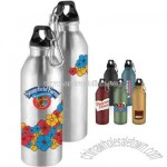 24 oz. single wall aluminum water bottle