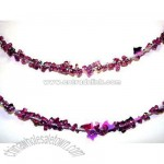 25' Purple Glitter Christmas Decorative Iced Rope Garland
