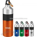 25 oz. single wall aluminum steel water bottle with 2-tone design