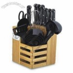 25-piece Kitchen Knife Tool Set with Full Tang Bakelite Handle and China Stainless Steel Blade