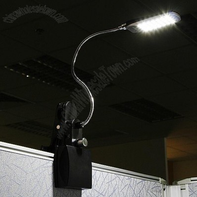 28 LED Desk Clip Lamp - with Adjustable Brightness