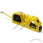 2M Tape measure with spirit level and laser