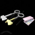 2PCS Decorative Couple Ax Hatchet Metal Key Chain Ring