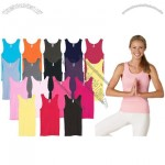 2X1 Ribbed Logo Tank Top for Women's - Colored