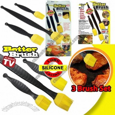 3 Better Brush Silicone Basting Brushes