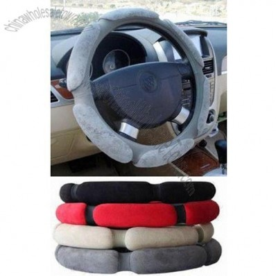 3-D Imitation Suede Steering Wheel Cover