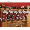3-D Plush Snow Cap Stockings