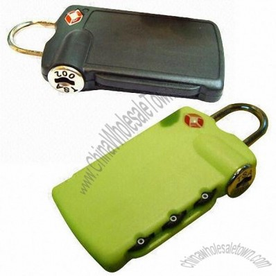 3-Digit Plastic TSA Combination Lock With Luggage Tag