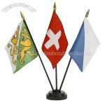 3 Flags Holder, Table Flag, Desk Flag