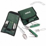 3-Piece Stainless Steel Mini Gardening Set with Case