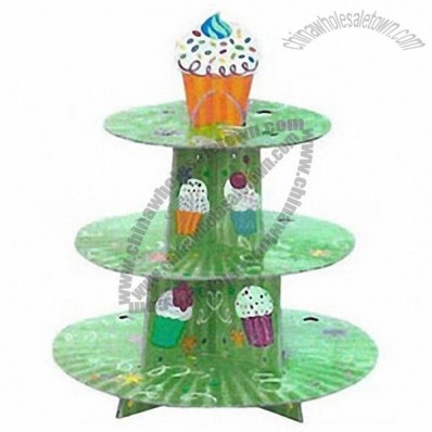 3-Ply Disposable Cardboard Paper Cake Display Stand