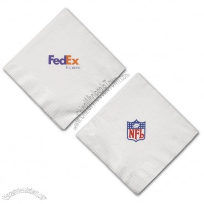 3 Ply White Luncheon Napkin with Logo