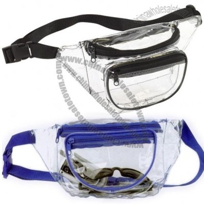3 Pocket Clear Vinyl Fanny Waist Pack