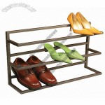 3 Tier Gray Gun Metal Shoe Rack