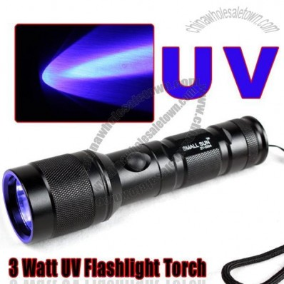 3 Watt Purple Light Flashlight Torch