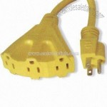 3-conductor 3-outlet Extension Cord