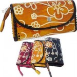 3 fold design faux leather clutch wallet