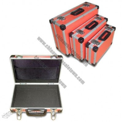 3-in-1 Aluminum Tool Case with Orange ABS Surface