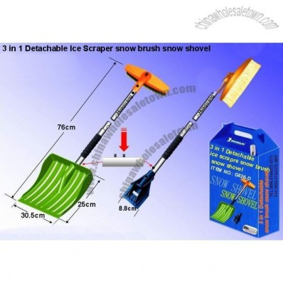 3 in 1 Detachable Ice Scraper Snow Brush Snow Shovel Set