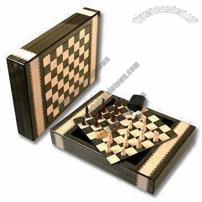 3-in-1 Game Set, Includes Chess, Checker and Backgammon Games
