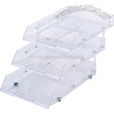 3 layer movable file tray