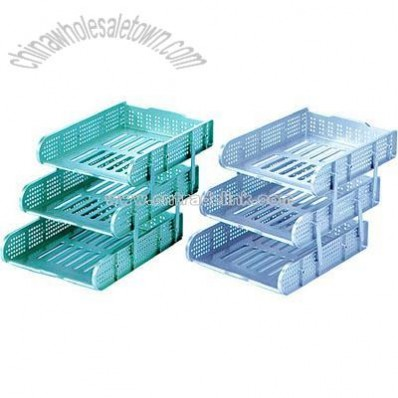 3 layers movable file tray