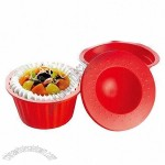 3-piece Colorful Silicone Cake Mold Set with Pan, Bowl and Cover