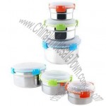 3-piece Food Storage Containers, Sized 10/13/16cm