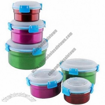 3-piece Stainless Steel Food Storage Boxes